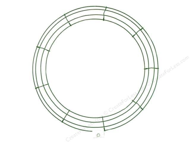 Panacea Box Wire Wreath Frame 18 in. Green