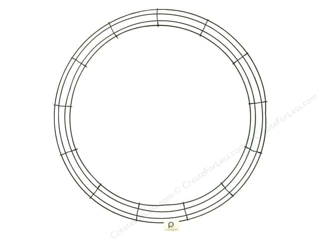 Panacea Box Wire Wreath Frame 24 in. Green (10 pieces)