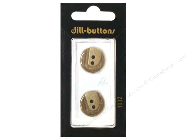 Dill 2 Hole Buttons 11/16 in. Beige #1032 2pc.