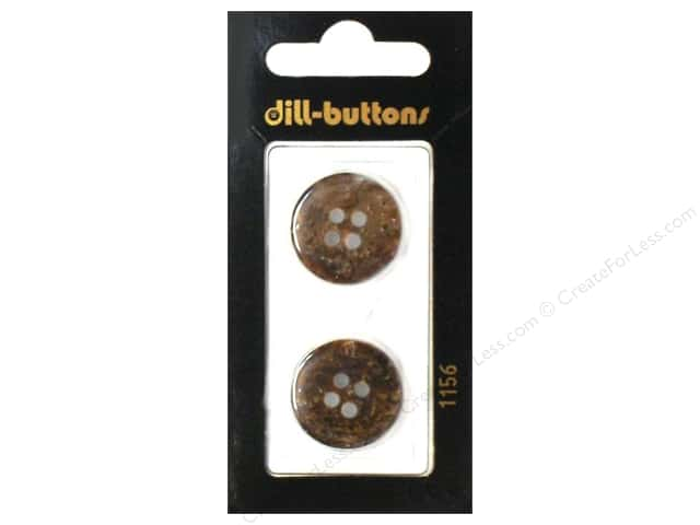 Dill 4 Hole Buttons 13/16 in. Brown #1156 2pc.