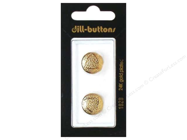 Dill Shank Buttons 5/8 in. Gold Metal #1828 2pc.