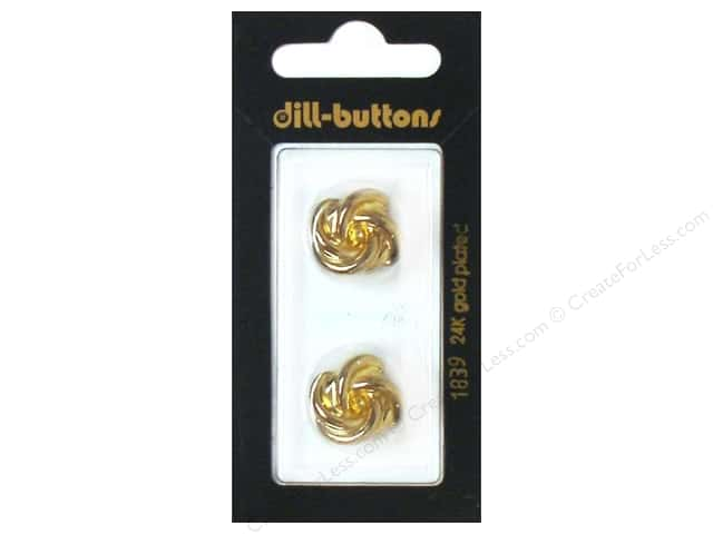 Dill Shank Buttons 11/16 in. Gold Metal #1839 2pc.