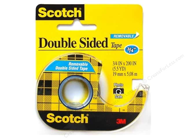 "Scotch Tape Double Stick Removable 3/4""x 200"""