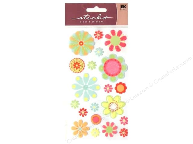 EK Sticko Stickers Pretty Florals