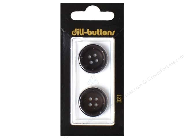Dill 4 Hole Buttons 13/16 in. Black #321 2pc.
