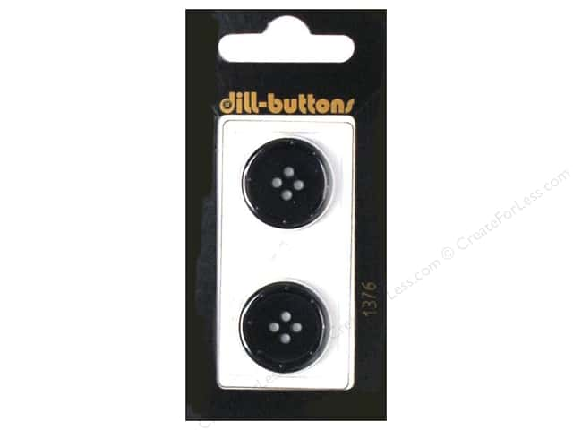 Dill 4 Hole Buttons 3/4 in. Navy 2pc.