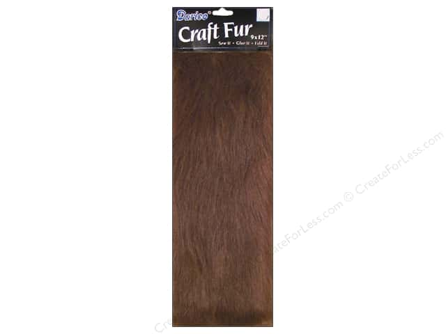 Darice Long Pile Fur 9 x 12 in. Brown