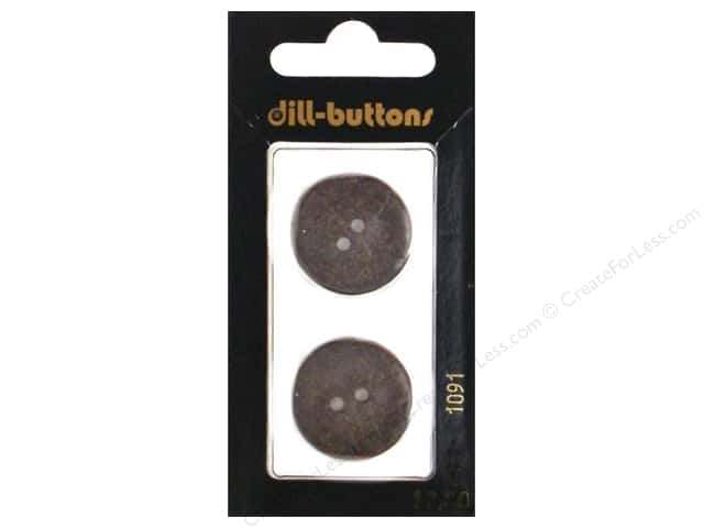 Dill 2 Hole Buttons 7/8 in. Brown #1091 2pc.