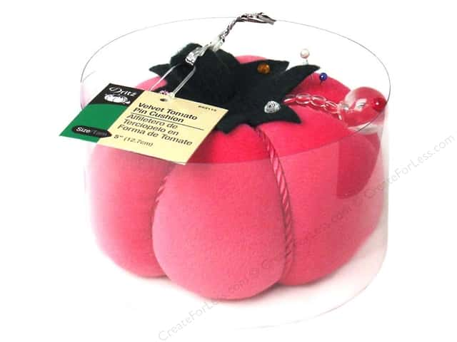 Velvet Tomato Pin Cushion by Dritz 5 in. Fashion Pink