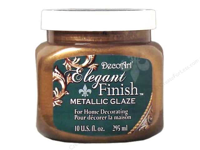 DecoArt Elegant Finish Metallic Glaze 10 oz. Renaissance Brown