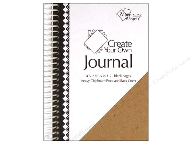 """Paper Accents Create Your Own Journal 4.5""""x 6.5"""" Blank 25 pg"""