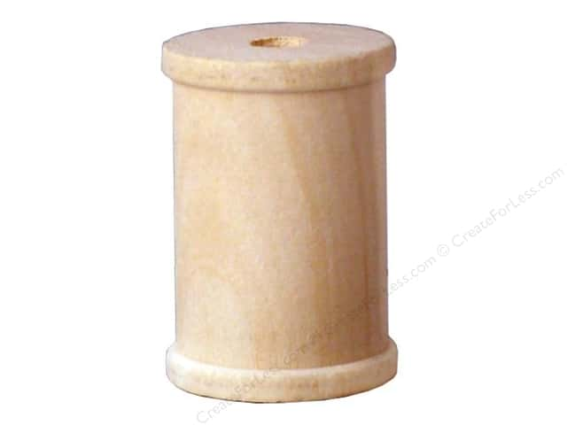 Lara's Wood Spool 1 1/2 x 2 1/8 in. Bulk Pack 12 pc.