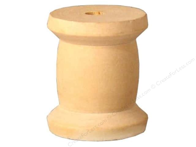 "Lara's Wood Spool ""Old Time"" 1 1/2 x 1 3/4 in. Bulk Pack 12 pc."