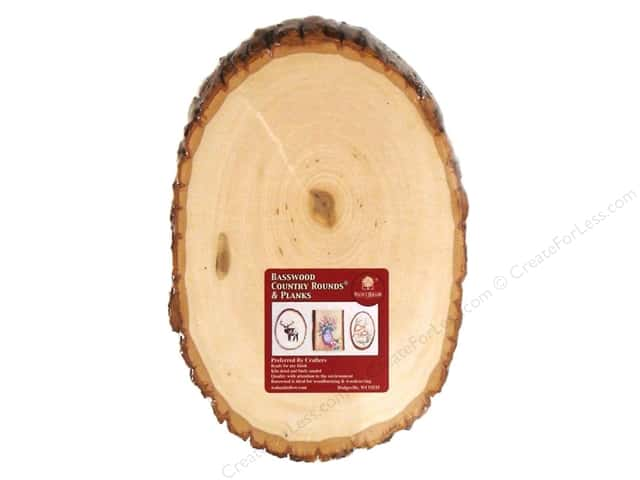 Walnut Hollow Basswood Country Round Medium 7 - 9 in.