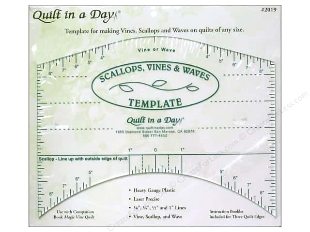 Quilt In A Day Ruler Scallops Vines Waves Template