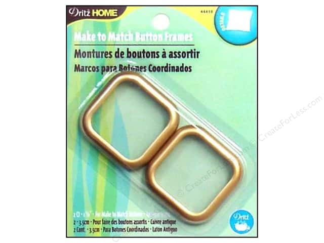 Make to Match Cover Button Frame Gold by Dritz Home