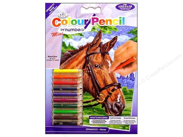 Royal Color Pencil by Number Mini Horse