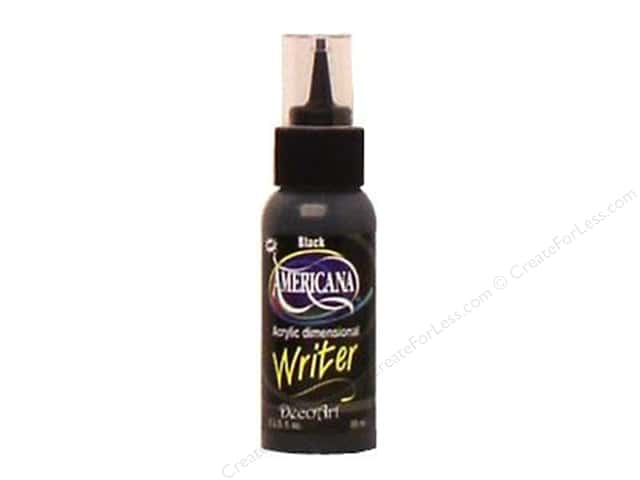 DecoArt Dimensional Writer Americana Black 2oz