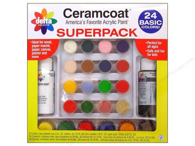 Delta Ceramcoat Paint Super Pack - Basic, 24 Colors