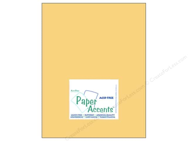 Cardstock 8 1/2 x 11 in. #8014 Muslin Candlelight by Paper Accents (25 sheets)