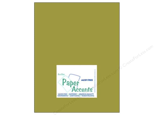 Cardstock 8 1/2 x 11 in. #8023 Muslin Guacamole by Paper Accents (25 sheets)