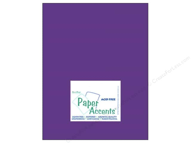Cardstock 8 1/2 x 11 in. #8052 Muslin Concord Grape by Paper Accents (25 sheets)