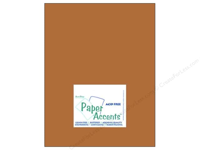 Cardstock 8 1/2 x 11 in. #8066 Muslin Cinnamon Stick by Paper Accents (25 sheets)