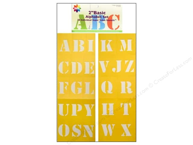 Delta Alphabet Stencil 2 in. Basic