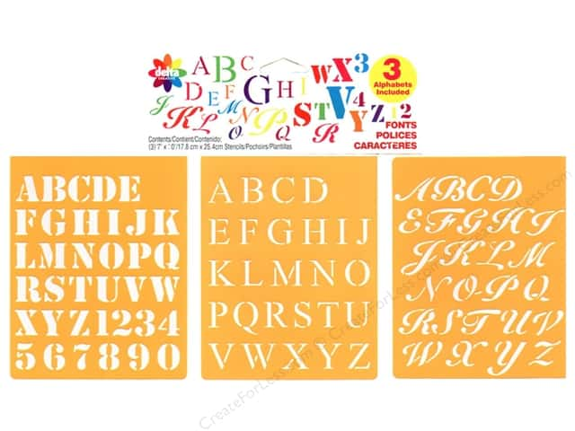 Delta Stencil Mania Value Pack Fonts 3 pc.