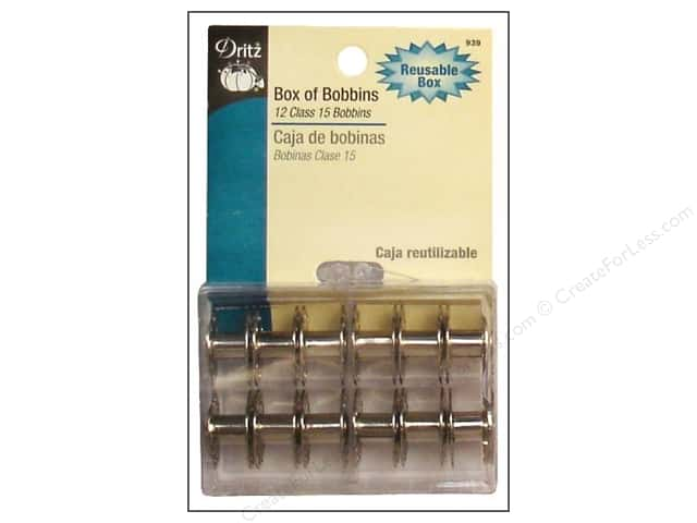 Dritz Box of Bobbins Class 15 12 pc.