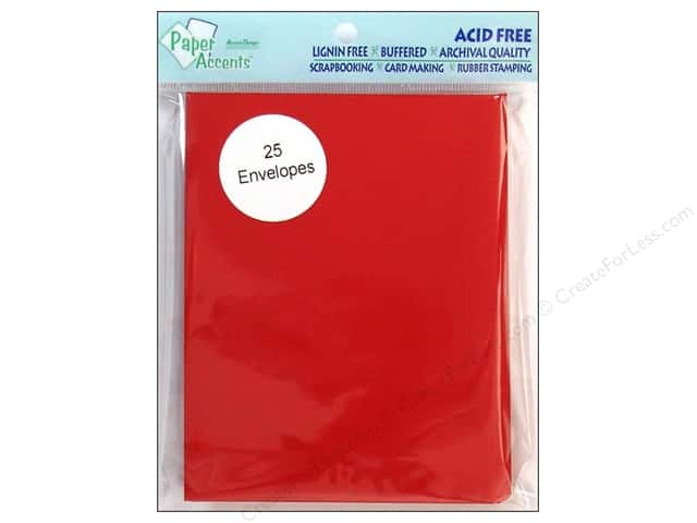 4 1/4 x 5 1/2 in. Envelopes by Paper Accents 25 pc. #139 Dark Red