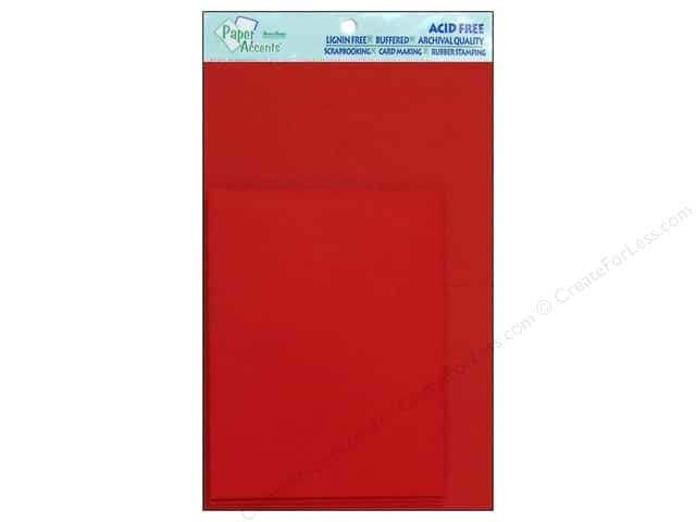 4 1/4 x 5 1/2 in. Blank Card & Envelopes by Paper Accents 8 pc. Dark Red