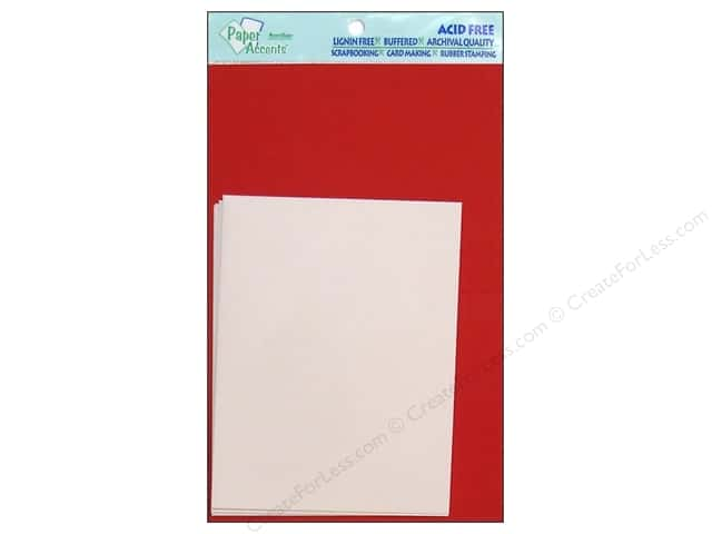 4 1/4 x 5 1/2 in. Blank Card & Envelopes by Paper Accents 10 pc. Dark Red/White