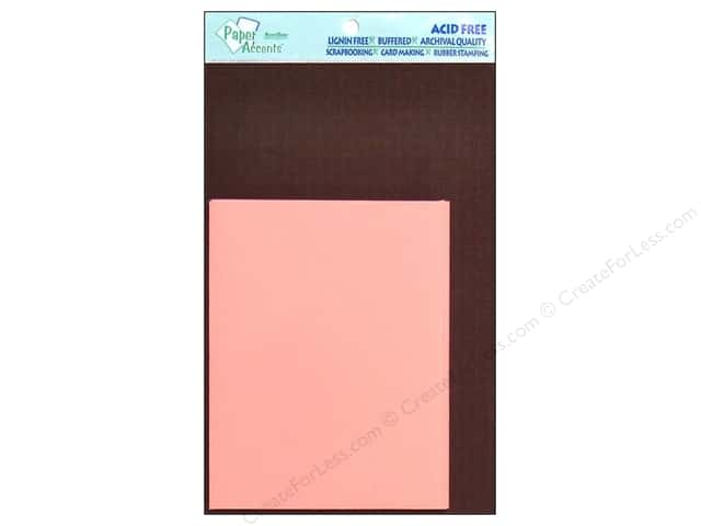 4 1/4 x 5 1/2 in. Blank Card & Envelopes by Paper Accents 8 pc. Espresso/Light Pink