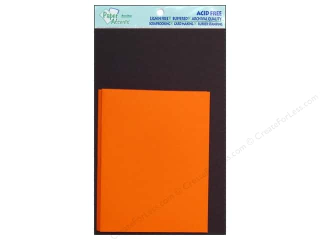 4 1/4 x 5 1/2 in. Blank Card & Envelopes by Paper Accents 10 pc. Black/Orange