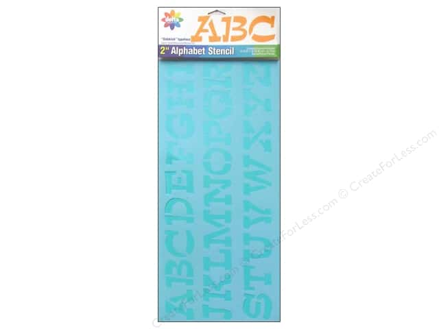 Delta Alphabet Stencil 2 in. Upper Case Sidekick