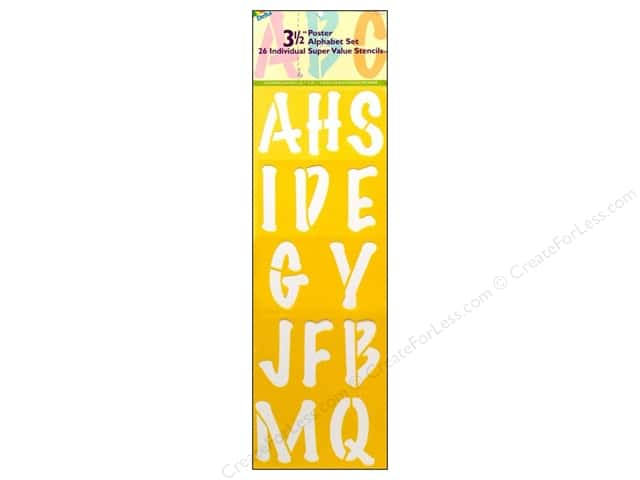 Delta Alphabet Stencil Mania 3 1/2 in. Super Value Poster 2 pc.