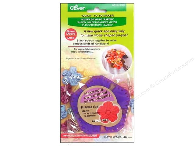 Clover Quick Yo-Yo Maker Flower 1 3/8 in. Small
