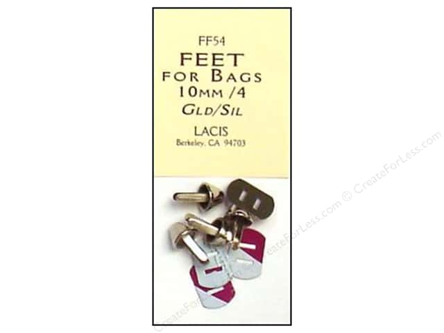 Lacis Feet for Bags 10mm Silver 4 pc