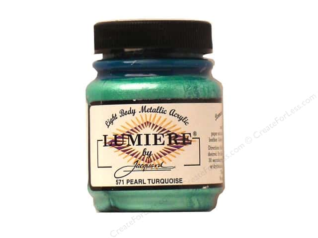 Jacquard Lumiere Paint 2.25 oz. #571 Pearl Turquoise