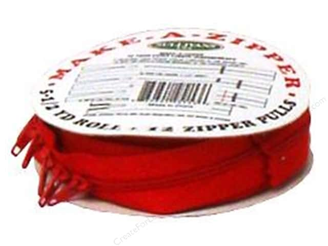 Sullivans Make-A-Zipper Kit 5 1/2 yd. Red