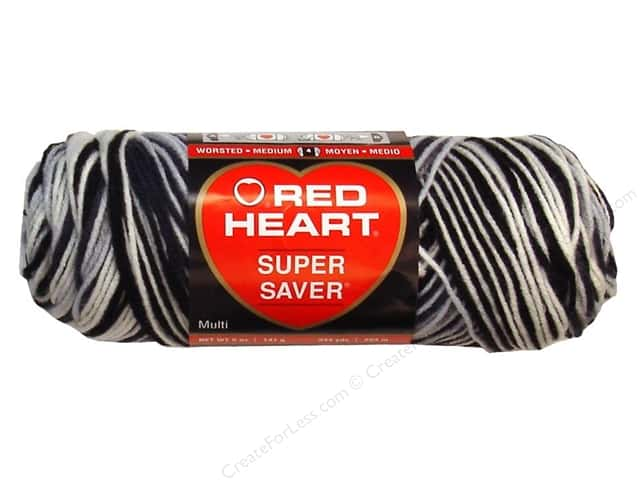 Red Heart Super Saver Yarn 236 yd. #0932 Zebra