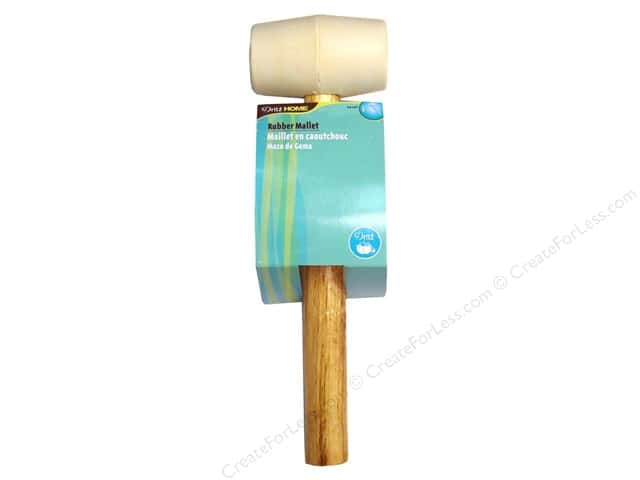 Rubber Mallet by Dritz Home Wood Handle