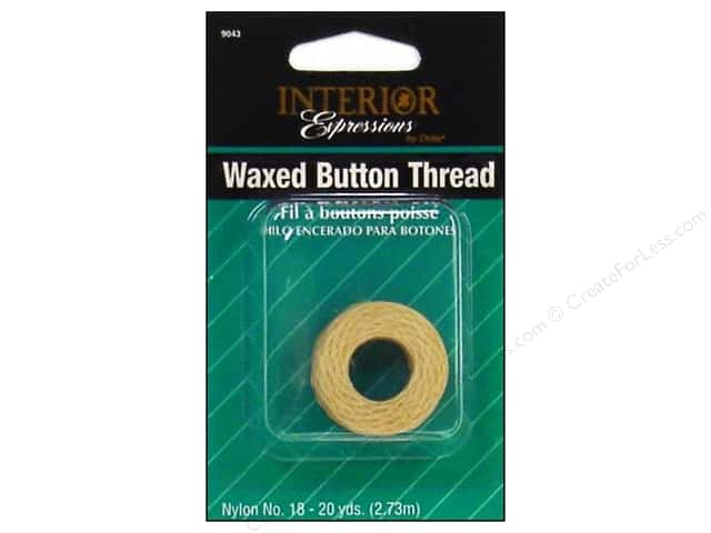 Waxed Button Thread by Dritz Home Natural 20yd