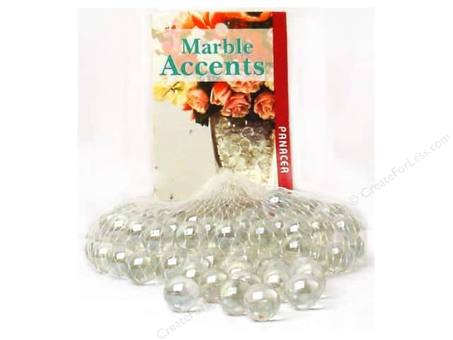 Panacea Glass Marbles 100 pc. Lustre Clear