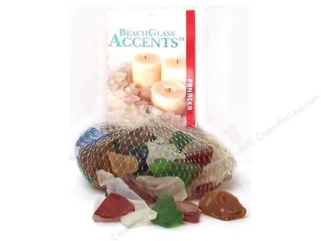 Panacea Beach Glass 16 oz. Primary Assorted