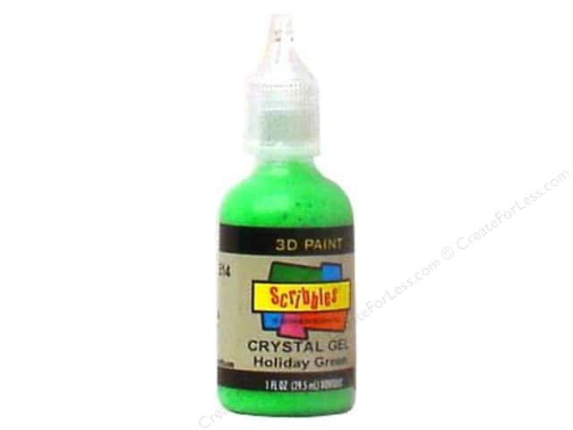 Scribbles 3D Fabric Paint 1 oz. Crystal Holiday Green