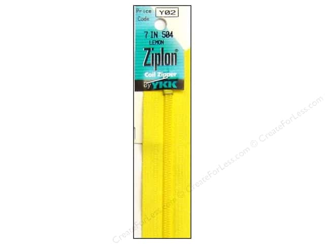 YKK Ziplon Coil Zipper 7 in. Lemon