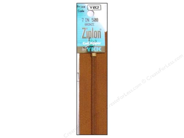 YKK Ziplon Coil Zipper 7 in. Bronze
