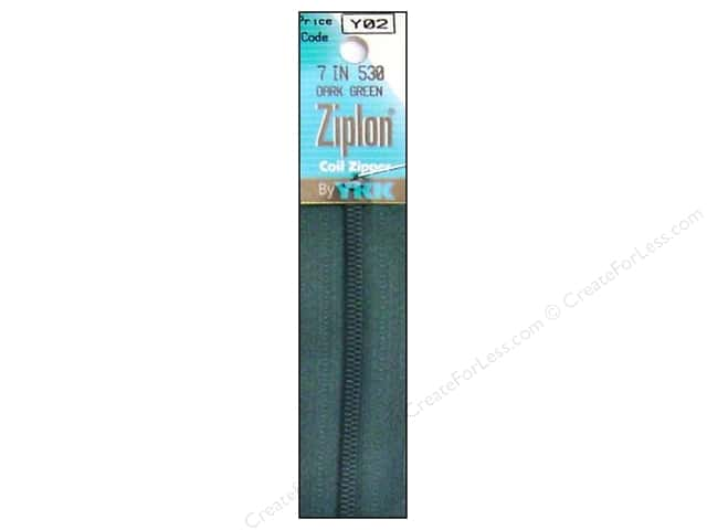 YKK Ziplon #3 Coil 7 in. Zipper Dark Green